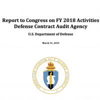 The Defense Contract Audit Agency's Fiscal Year 2018 annual Report to Congress