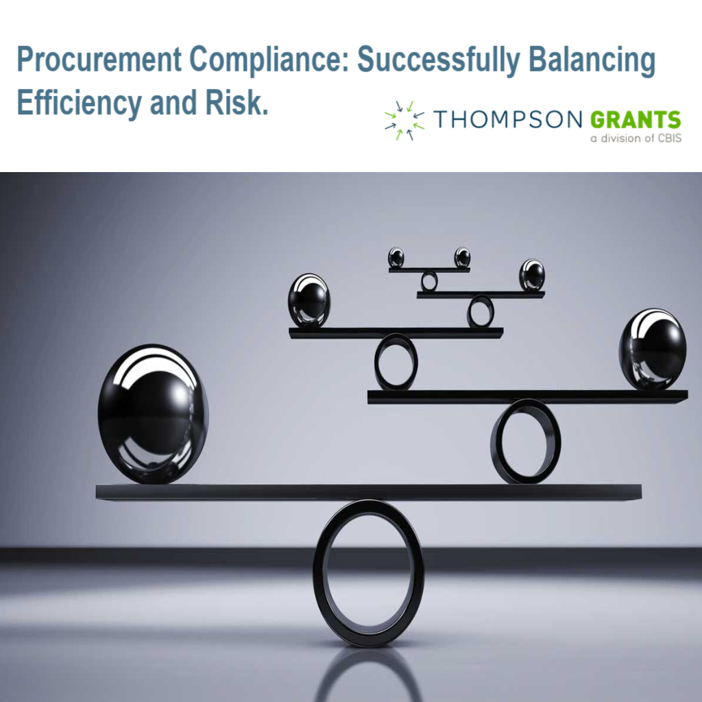 Procurement Compliance: Successfully Balancing Efficiency and Risk.