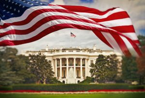 White House with Flag