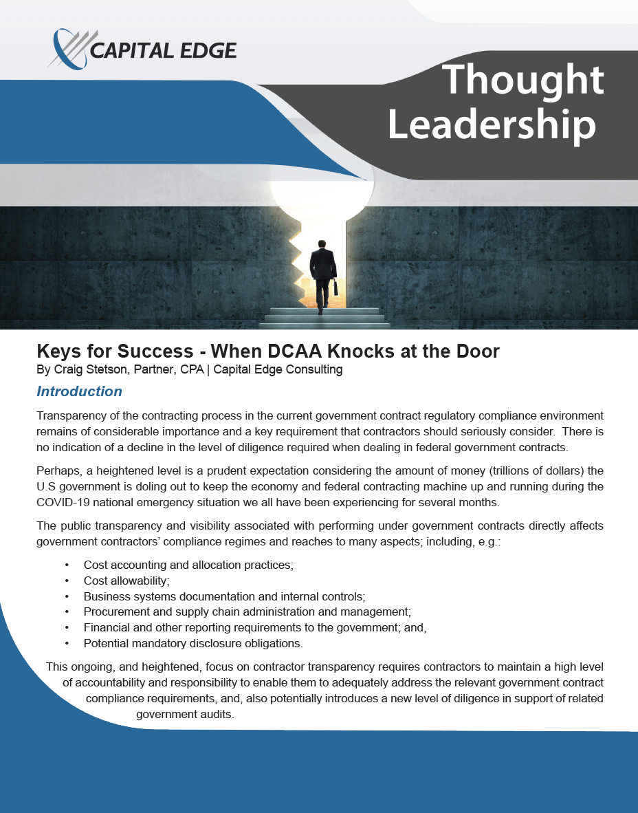 Keys for Success - When DCAA Knocks at the Door